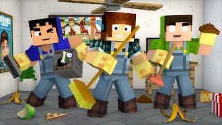 minecraft dia de limpeza da casa casa dos youtubers 04