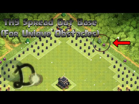 Clash of Clans - TH9 Spread Out Base (For Unique Obstacles) [AFTER THE TH11 UPDATE]
