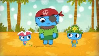 Мультфильмы для Малышей - Котики вперед! - Сокровища острова Попугая (Серия 14)