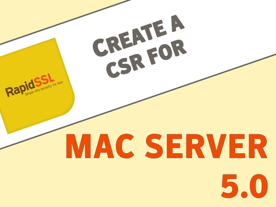Generate a CSR on Mac Server 5.0 for OSX 10.10.5 and Above - YouTube