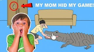 My Mom STOLE My VIDEO GAMES! My Mom Hid My Game Nintendo System Video