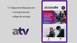AccessTV I  Comprando e inserindo código de recarga