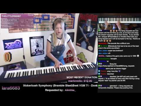 Lara plays Stickerbrush Symphony (Donkey Kong Country 2)