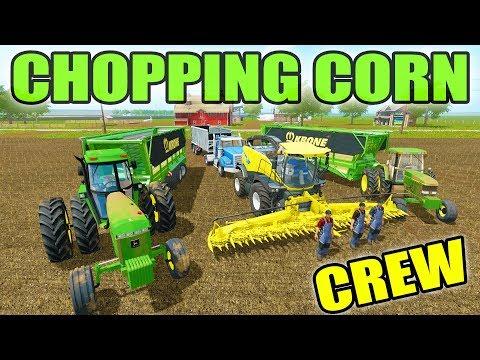 FARMING SIMULATOR 2017 | CHOPPING CORN WITH BIG 4 MAN CREW | MULTIPLAYER | CANADA EP# 4