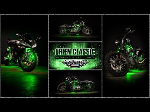 LEDGlow | Green Classic Motorcycle LED Lighting Kit