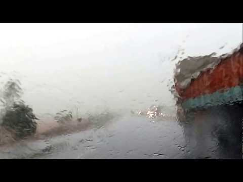 Journy with Rain & Stromes on NH-65 from Hyderabad to Vijayawada on 07.06.2017-AP-India