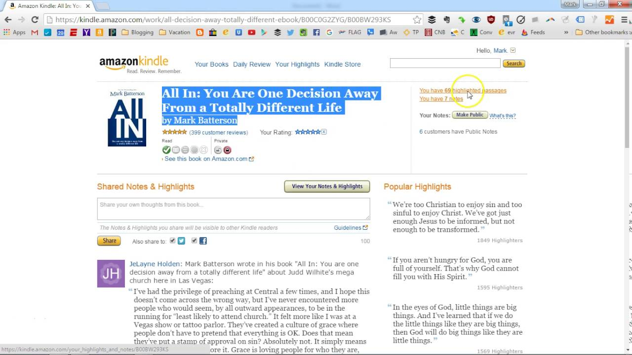 how to transfer kindle book highlights and notes into microsoft word