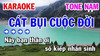 Cát Bụi Cuộc Đời Karaoke Nhạc Sống Tone Nam - Karaoke Tuấn Cơ