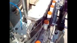 Sticker labelling machine for Bottle, Jar with Hot foil Printer