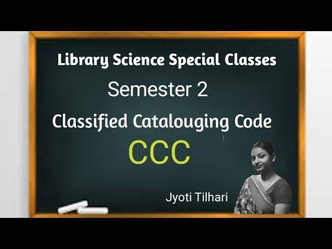Classified Catalouging Code