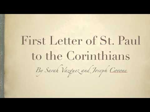 paul s first letter to the corinthians the letter of st paul to the corinthians 23914