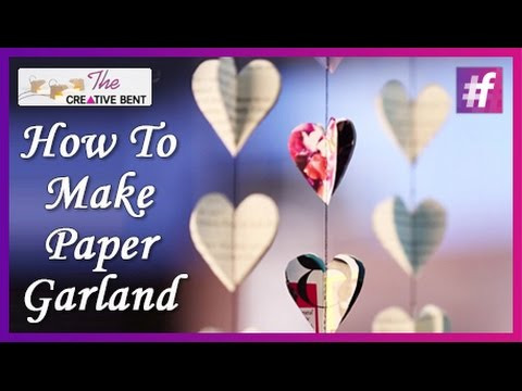How To Make Paper Garland | DIY with Swati
