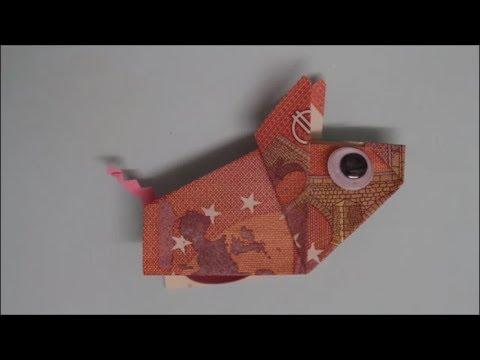 Diy Geld Falten Schwein Origami Schweinchen Geldgeschenke