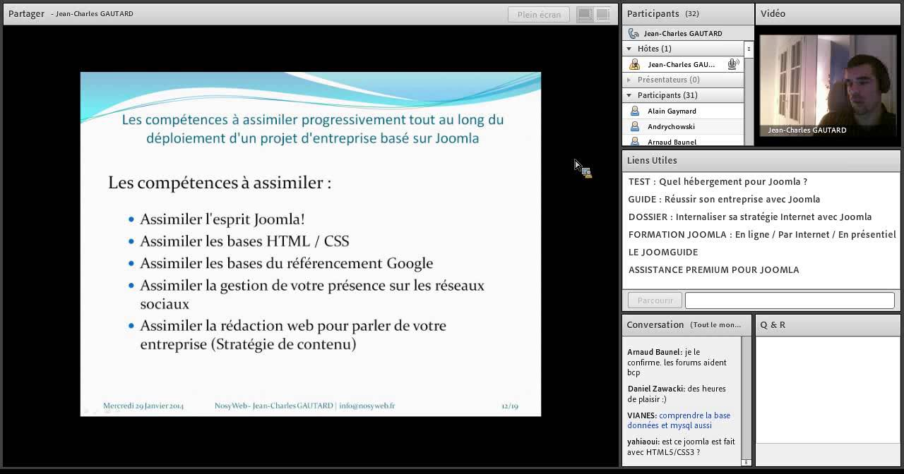 Conférence sur Joomla! : Développer votre entreprise sur Internet grâce à Joomla!