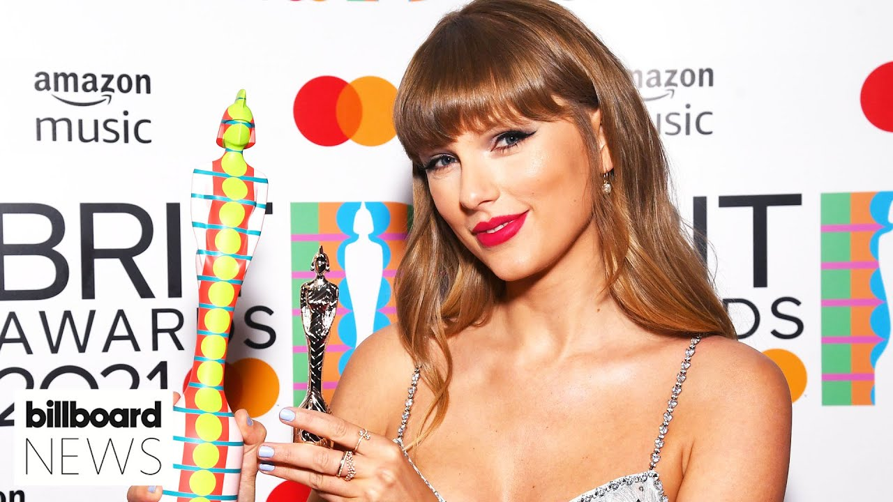 Taylor Swift Accepts Global Icon Award at the 2021 Brit Awards | Billboard News