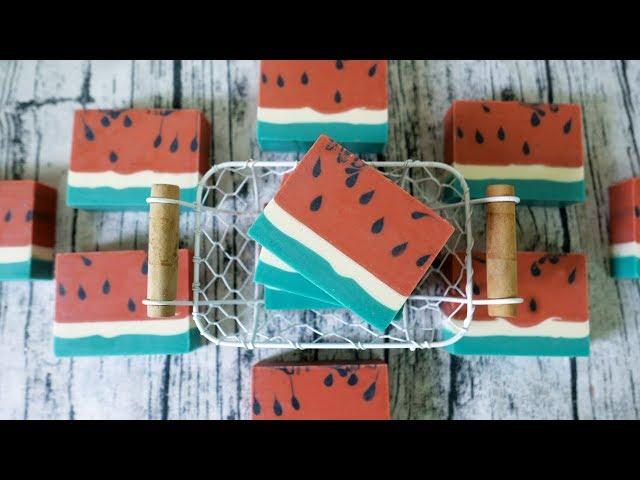 夏日西瓜皂DIY - watermelon handmade soap tutorial - 手工皂
