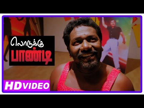Lodukku Pandi Tamil Movie   Scenes   Karunas wearing women nightwear   Neha Saxena