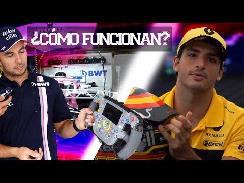 CHECO PEREZ & CARLOS SAINZ NOS EXPLICAN VOLANTE & CASCO DE FÓRMULA 1| JUCA