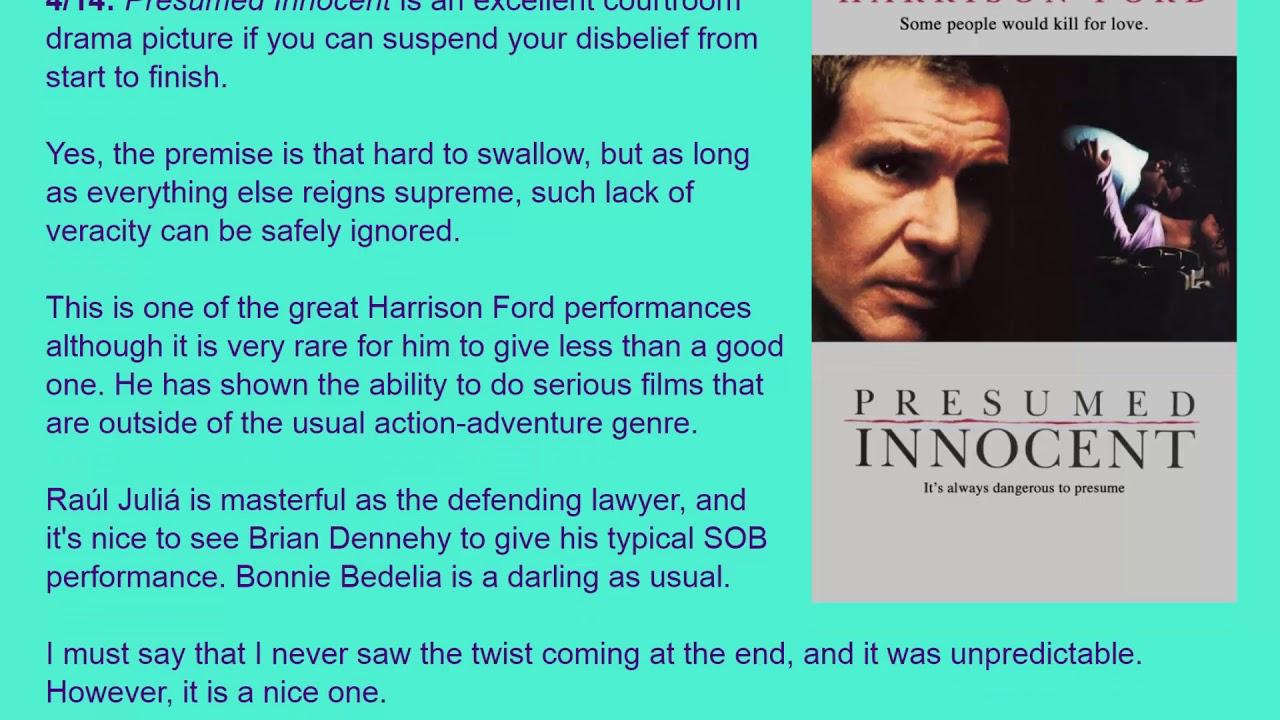 Movie Review: Presumed Innocent (1990) [HD]  Presumed Innocent 1990
