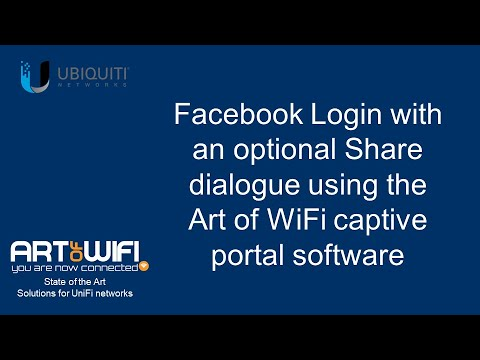 Captive portal for UniFi - Facebook Login and Share