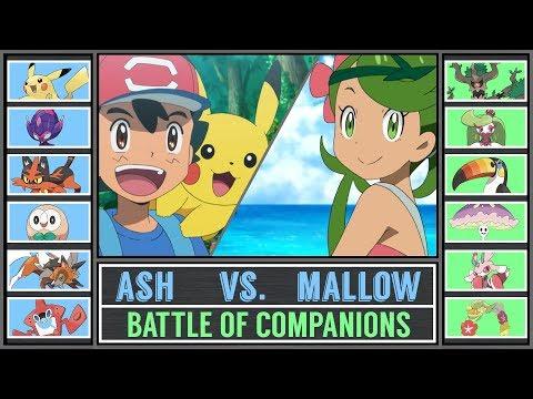 Ash vs. Mallow (Pokémon Sun/Moon) - Alola Battle of Companions