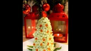 Новогодний салат Елки  Пошаговый салат с фото