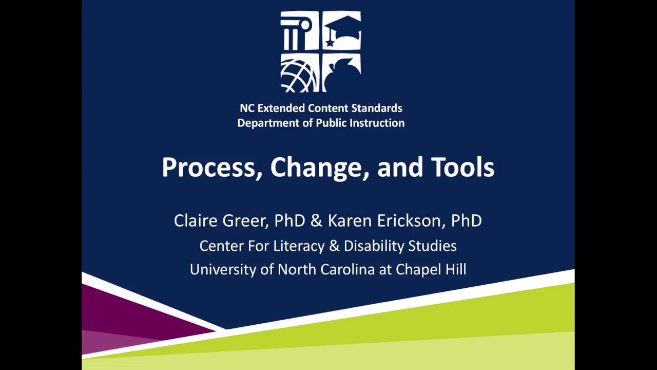 Nc Extended Content Standards Process Change Andtools Youtube