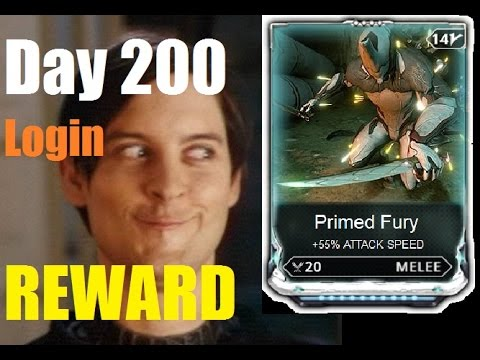 DAY 200 LOGIN REWARD - Primed Fury vs Berserker