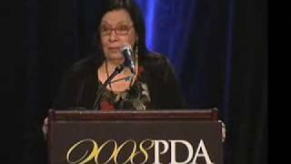 Shelley Morrison speaks at the 2008 PDA Conference