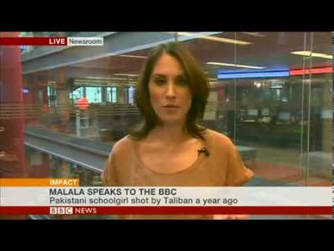 Malala Yousafzai speaks to the BBC: World's Newsroom