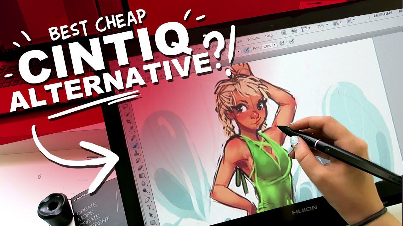 HUION KAMVAS GT-191 Review and Unboxing | Best Cheap Cintiq Alternative? | DrawingWiffWaffles