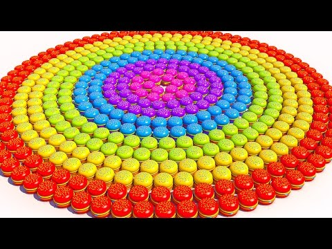 Thumbnail: Teach Colors with Colorful Hamburger Spiral Learning video for Kids and Children