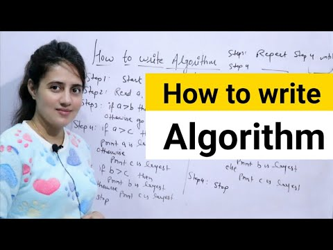 How to write an Algorithm | DAA
