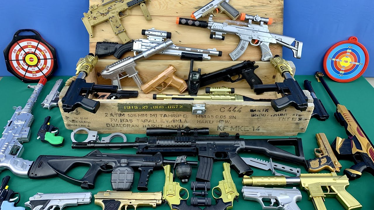 Scope Rifles -  Realistic Toy Rifles ! Ammunitions in the Real Rifle Chest ! Weapon Equipments