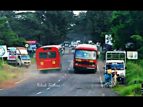MSRTC BUSES IN ACTION IN KONKAN : ST BUSES : MAHARASHTRA