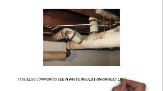 What does Asbestos Look Like? - Vermiculite - Asbestos Wrapped Pipes -Asbestos insulation
