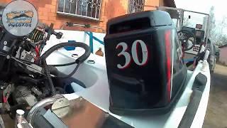 розпакування мотора HANGKAI 9.9 і підключення тахометра до мотору TOHATSU 30
