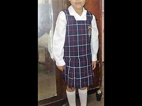 c7899a8a0a9e4 Como hacer uniforme escolar para niña clase   111 - YouTube