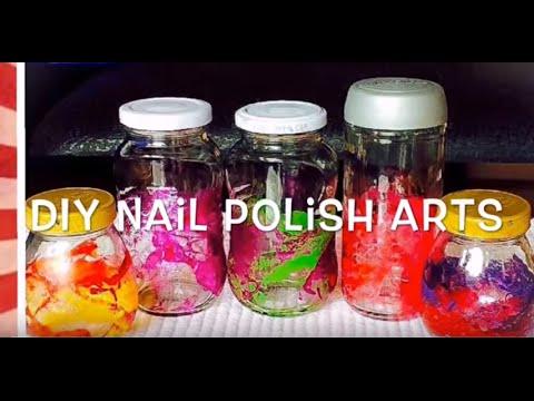 DIY Nail Polish Art. How to make cute and easy home craft ideas using nail polish💅💅💅