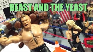 GTS WRESTLING: Beast in the YEAST! WWE Mattel Elite Figure Animation PPV Event!!