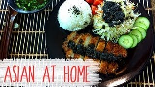 Chicken Recipe : Chicken Katsu With Black Sesame Dressing : Asian At Home