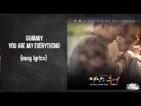 Gummy - You Are My Everything Lyrics (karaoke With Easy Lyrics)
