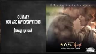 Gummy - You Are My Everything Lyrics (karaoke with easy lyrics)