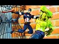 Captain America Spiderman Iron Man vs Hulk (FIGHT SCENE)