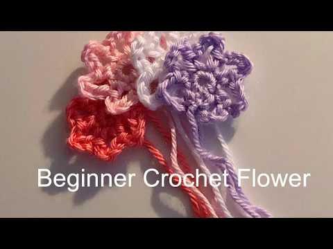 Beginner Crochet Flower