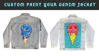 Custom paint your denim jacket | Liliane Avalos