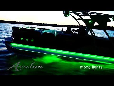 LUXURY PONTOON BOAT LIGHTING - Beautiful LEDs | Avalon Pontoons 2017