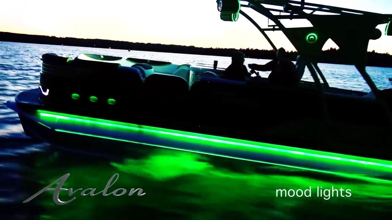 luxury pontoon boat lighting beautiful leds avalon pontoons 2017 [ 1280 x 720 Pixel ]