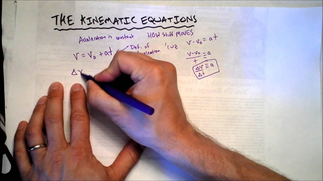 The Kinematic Equations | Key to Memorization | Doc Physics