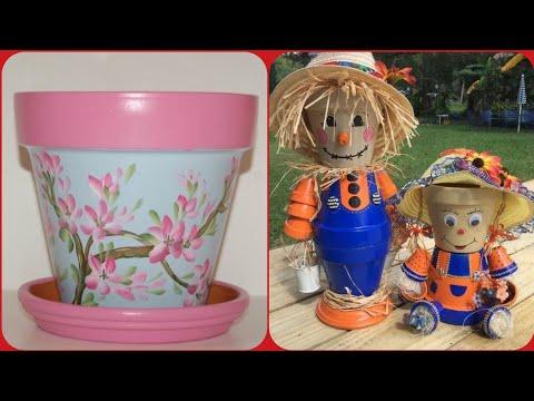 Beautiful pot painting and decoration art ideas